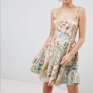 NWT ASOS Cherub Print Skater Dress